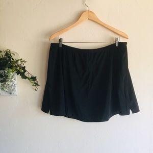 Tropical Escape • Black Swim suit skirt